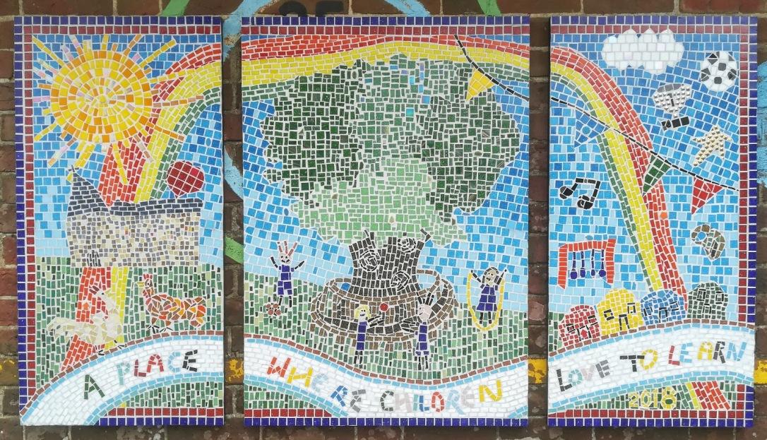 Finished mosaic installed
